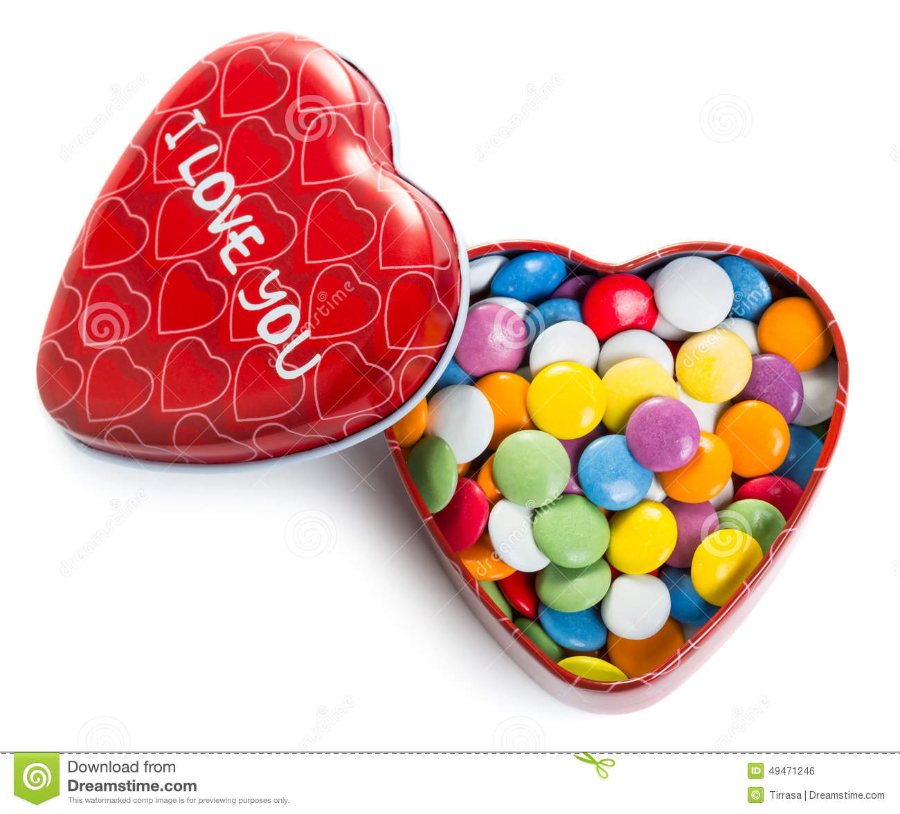 Traditional Colorful Candy With Heart For Valentine D