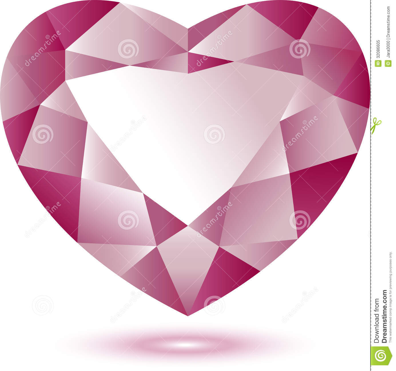 Heart Shape Gem Stock Vector Image Of Color Shaped