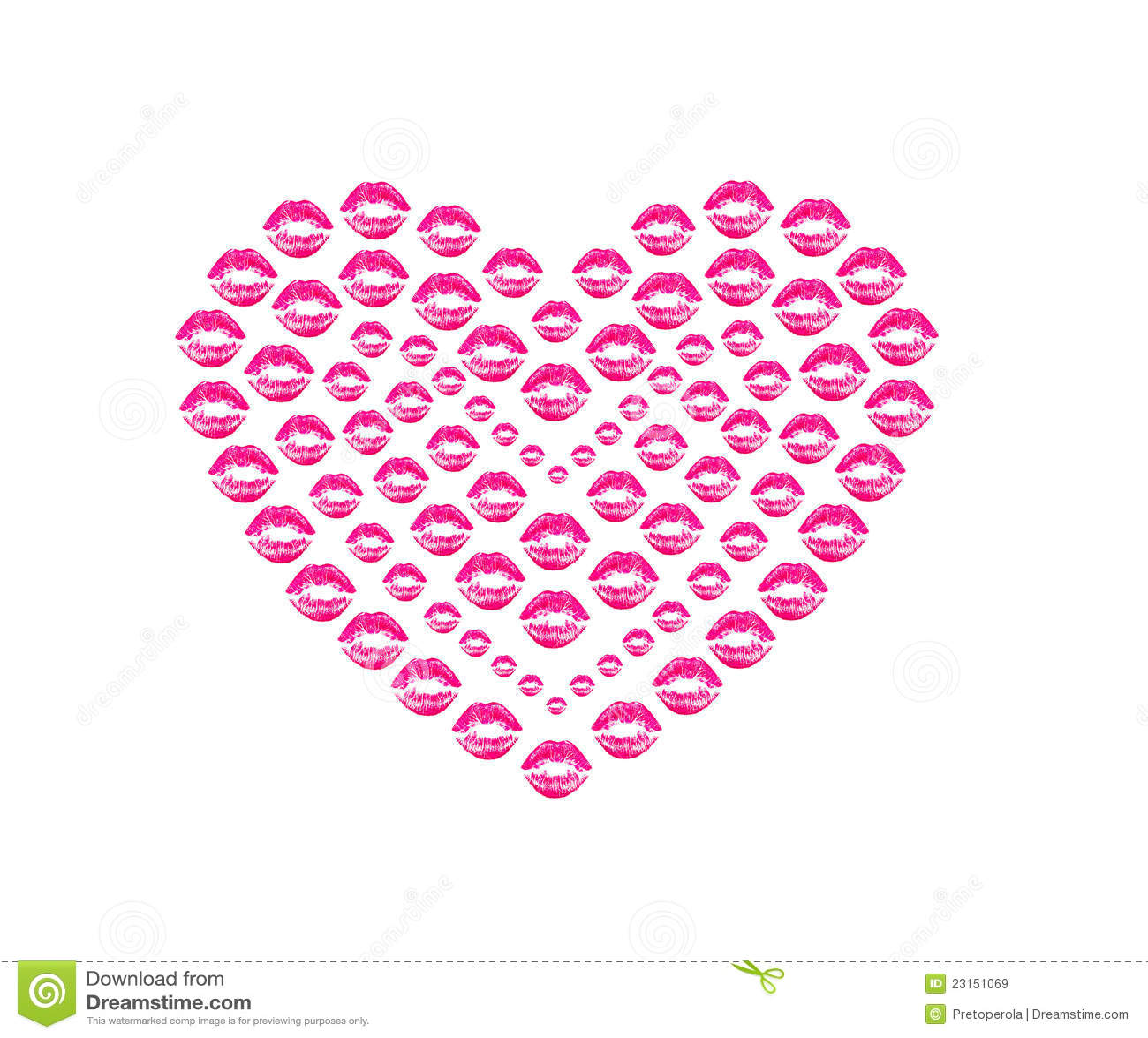 Heart Shape Kissing Lips Royalty Free Stock Images Image