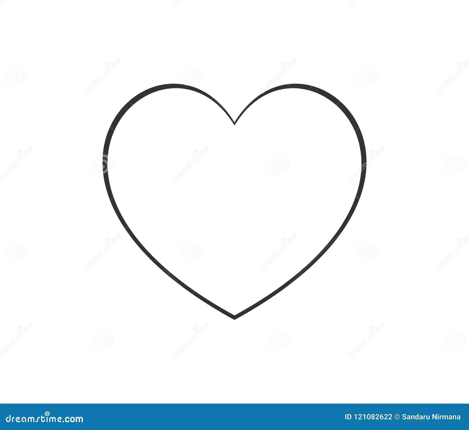 Heart Shape Thin Line Icon Logo Linear Vector Symbol On