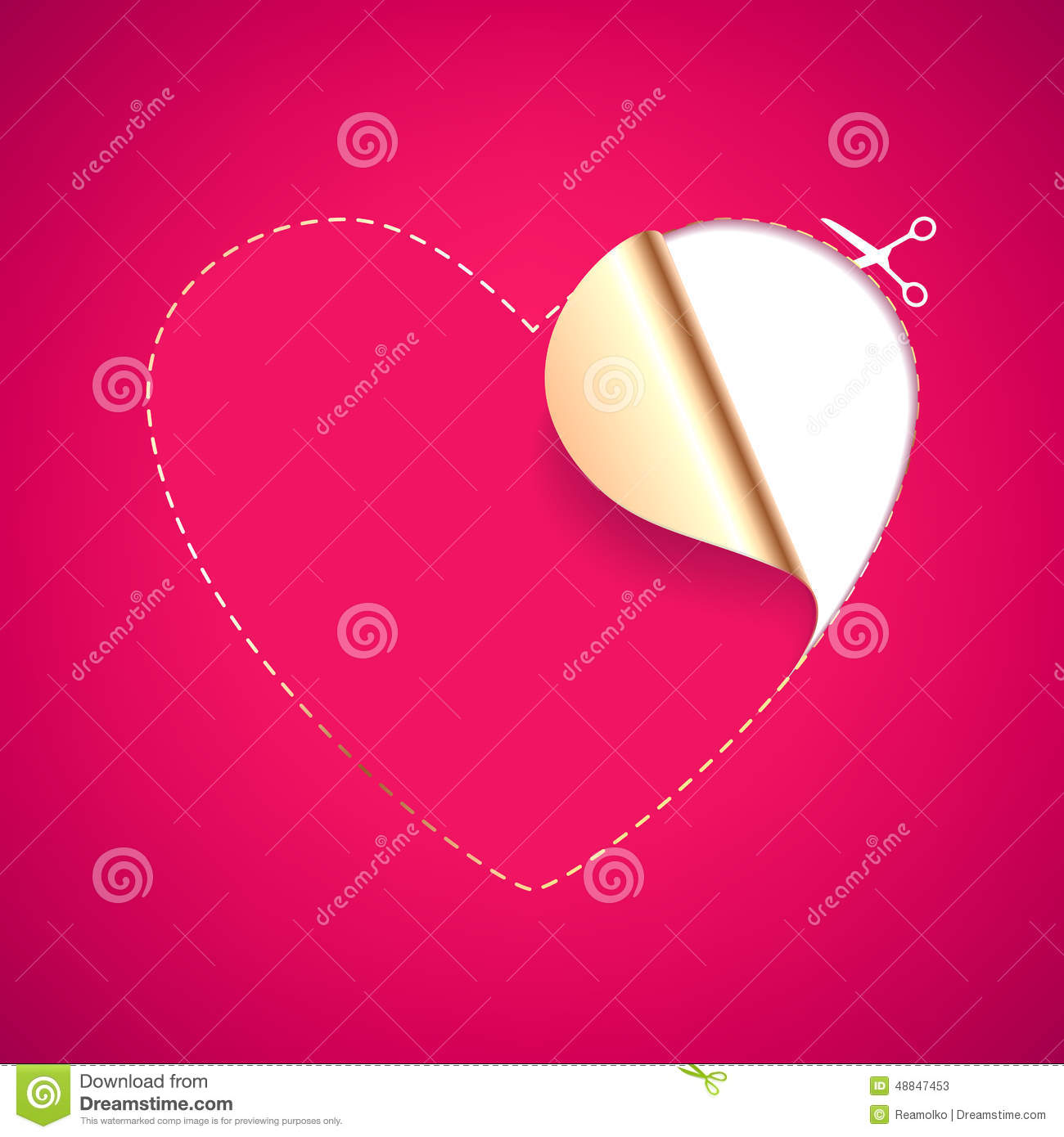 Heart Shaped Red Blank Template Stock Vector