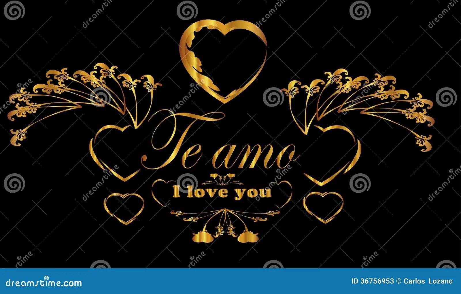 Heart Te Amo Frame Stock Photos Image 36756953
