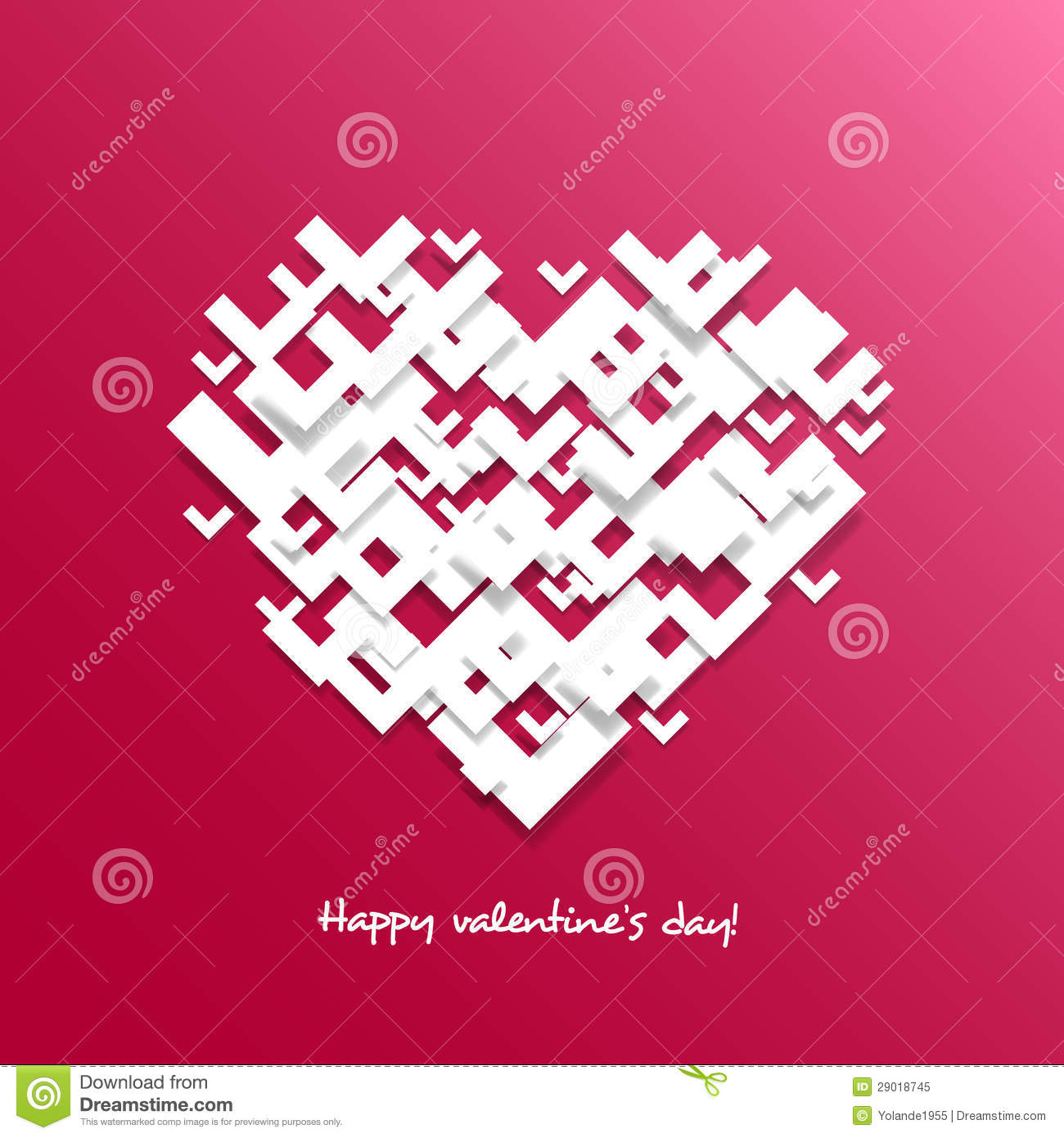 Heart For Valentine S Day Card Overlapping Shapes Stock