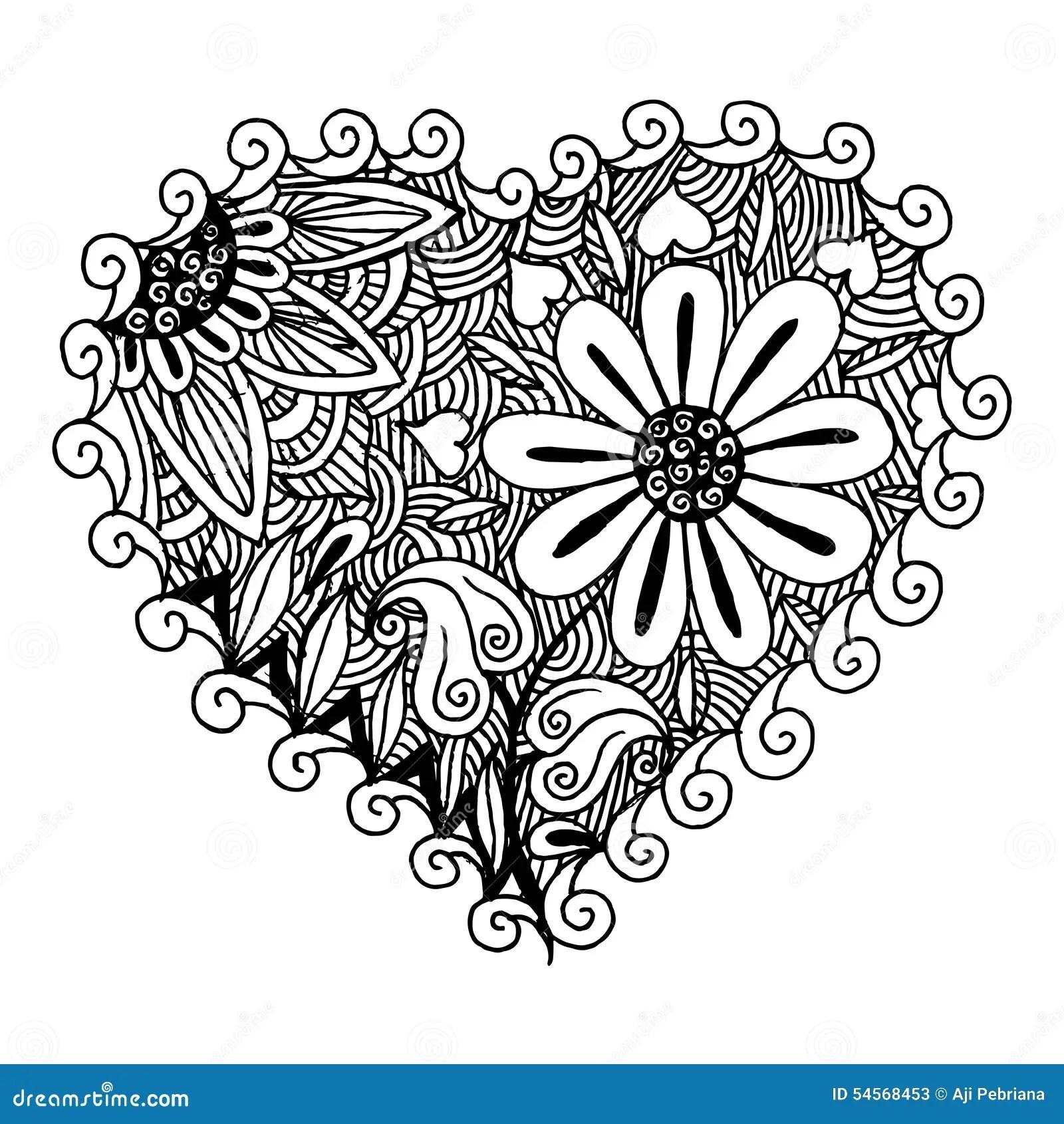 Hearts Zentangle Stock Vector Image 54568453