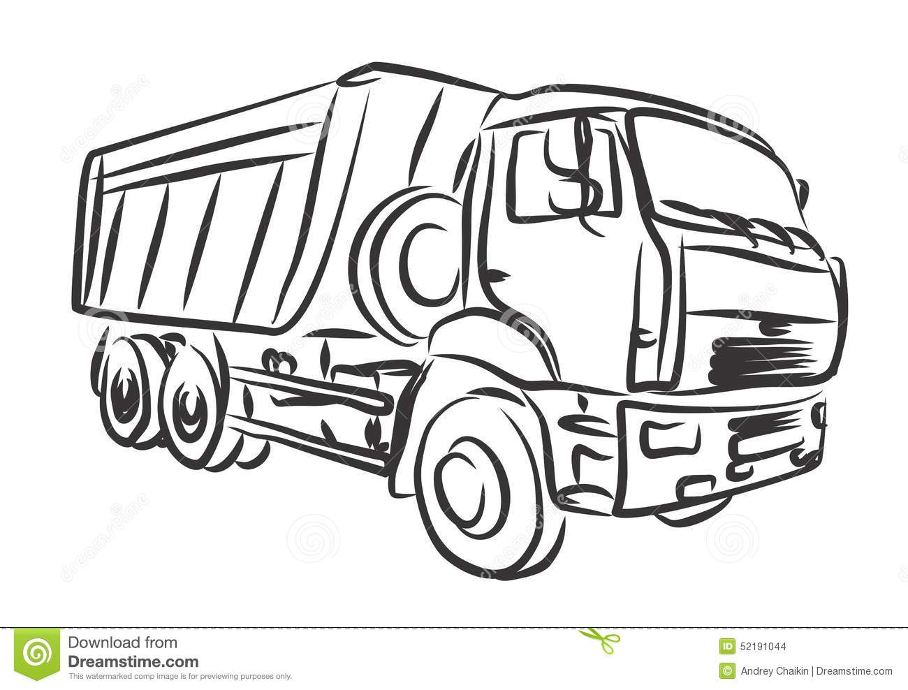 Heavy Truck Stock Vector Illustration Of Delivery Cargo