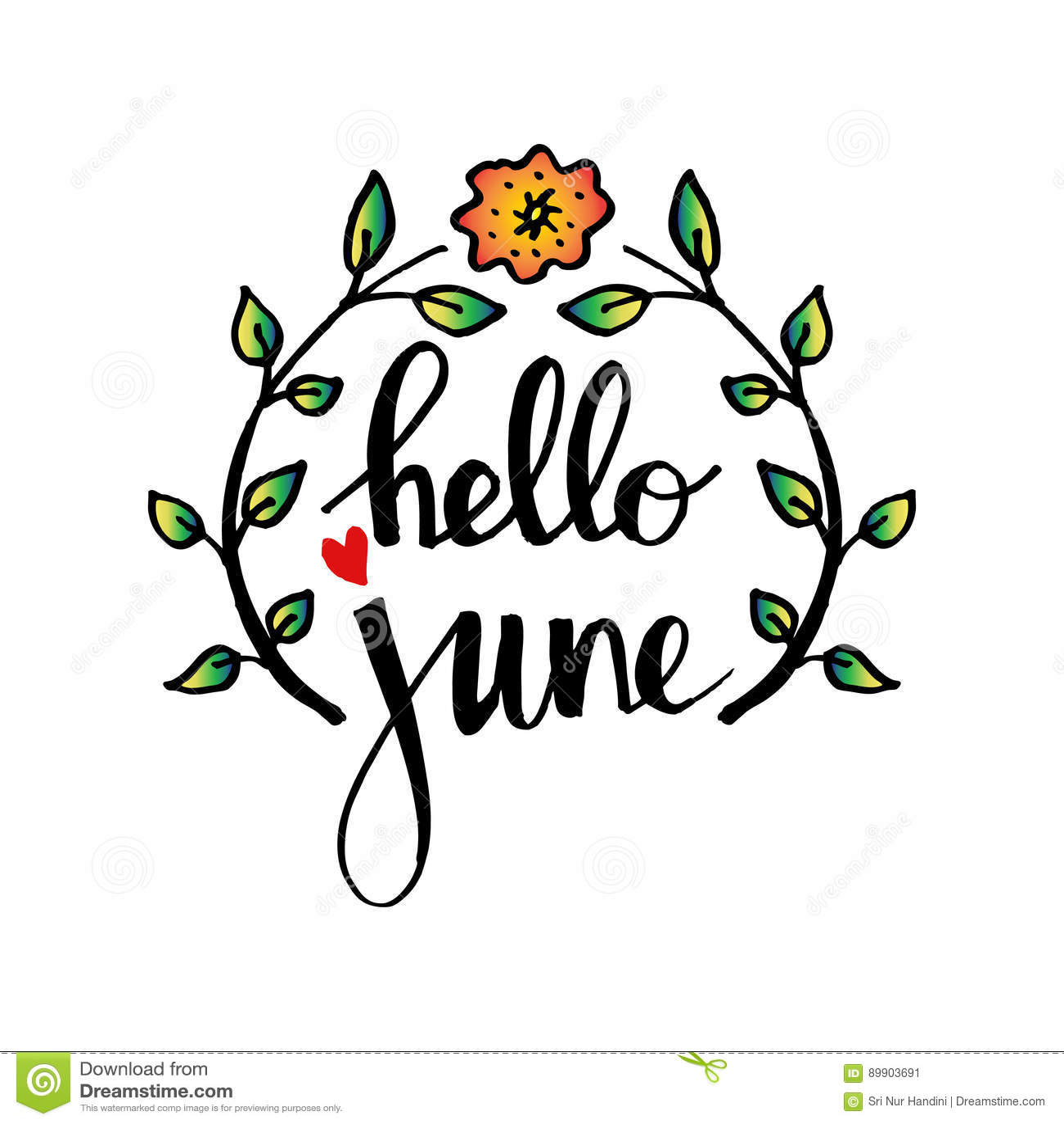 Hello June Stock Vector Illustration Of Invitation