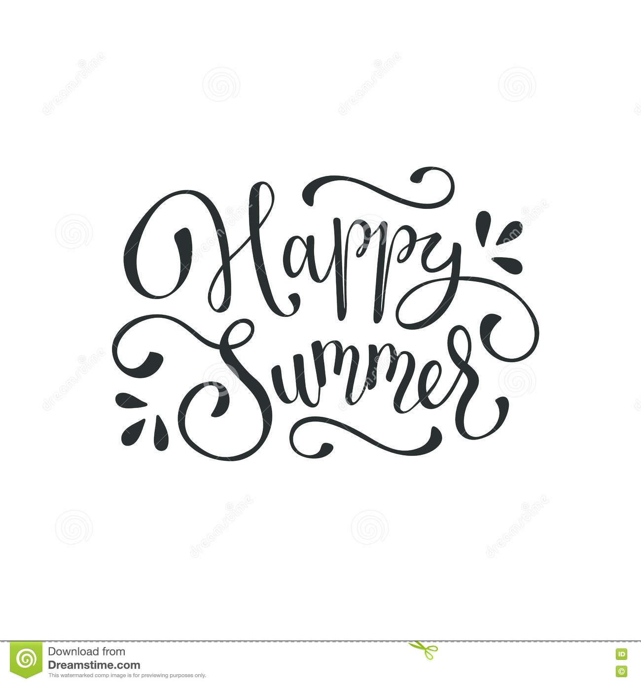 Hello Summer Wording Stock Vector Illustration Of