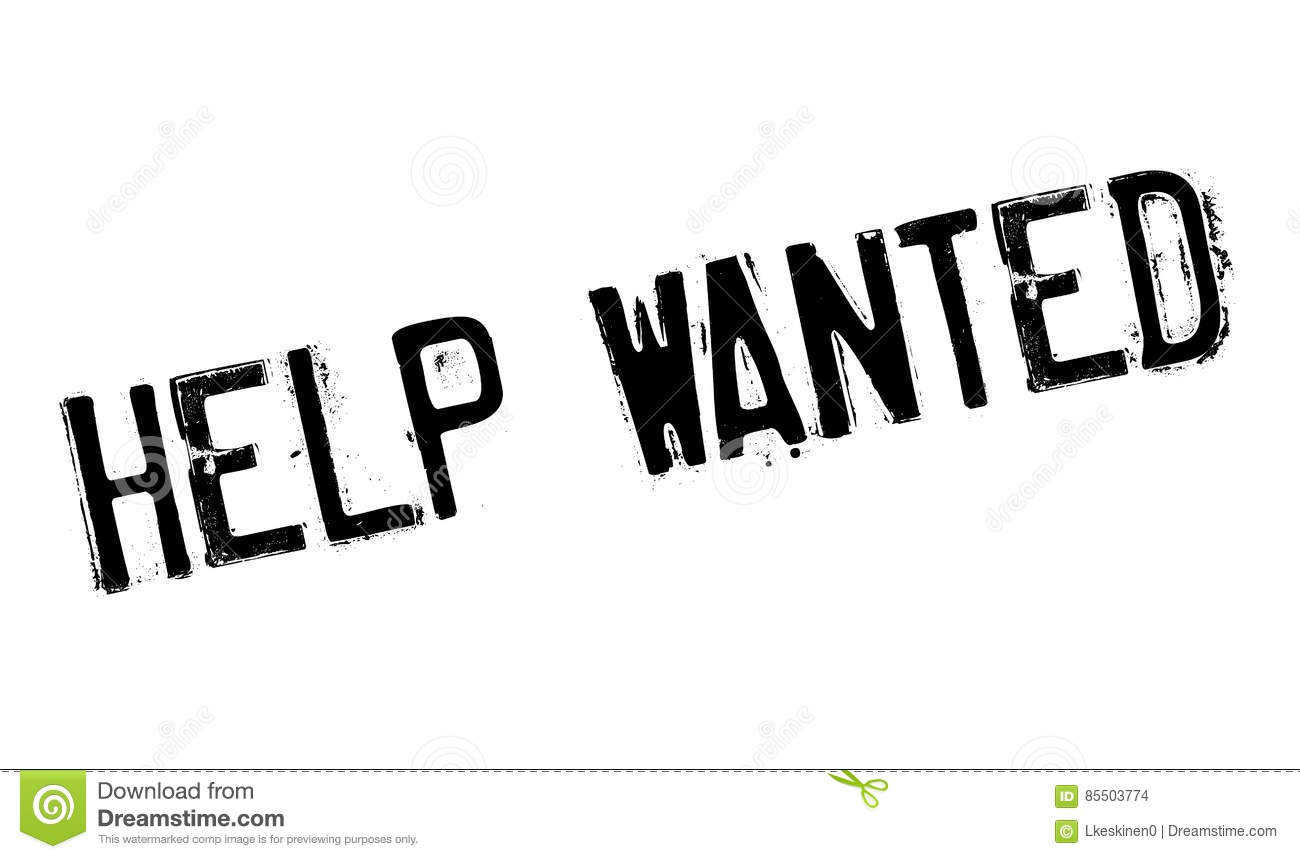 Help Wanted Stamp Stock Illustration Illustration Of