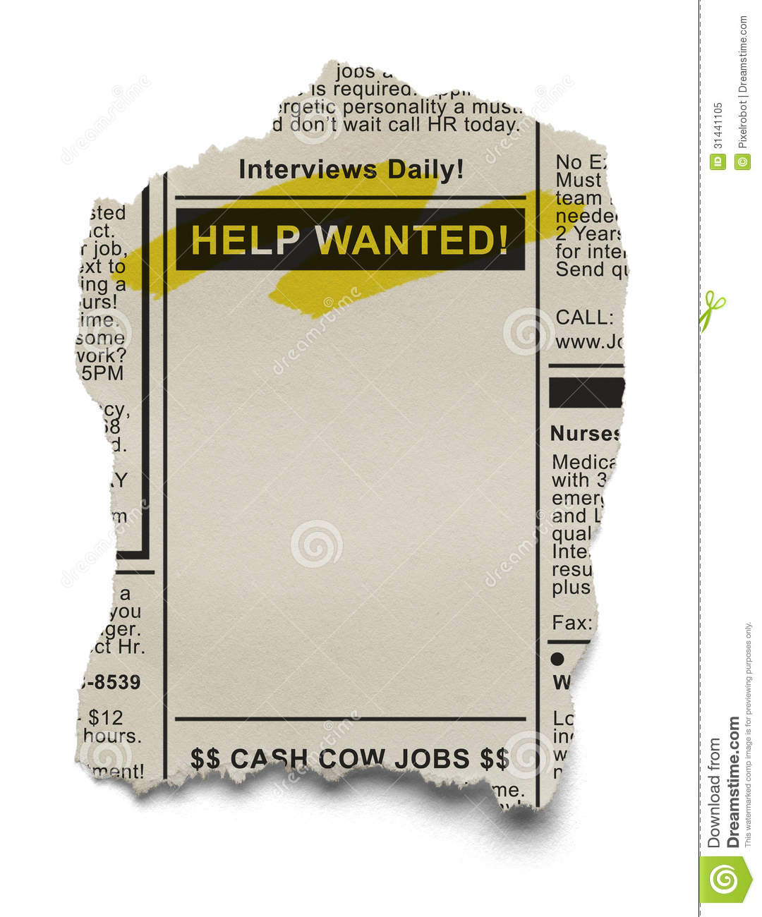 Help Wanted Stock Image Image Of Advertisement Newspaper