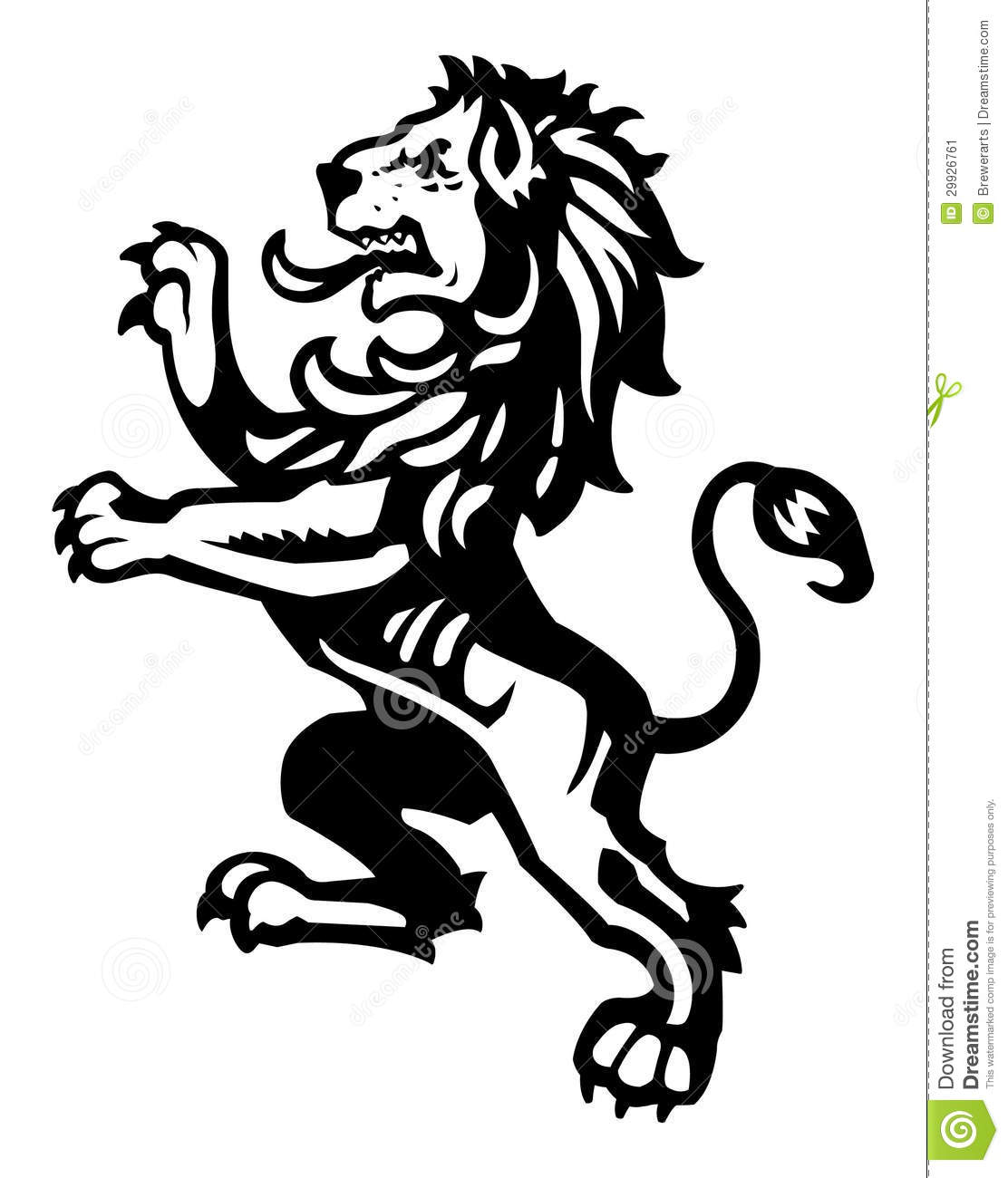 Lion Rampant 2 Stock Vector Illustration Of Chivalry