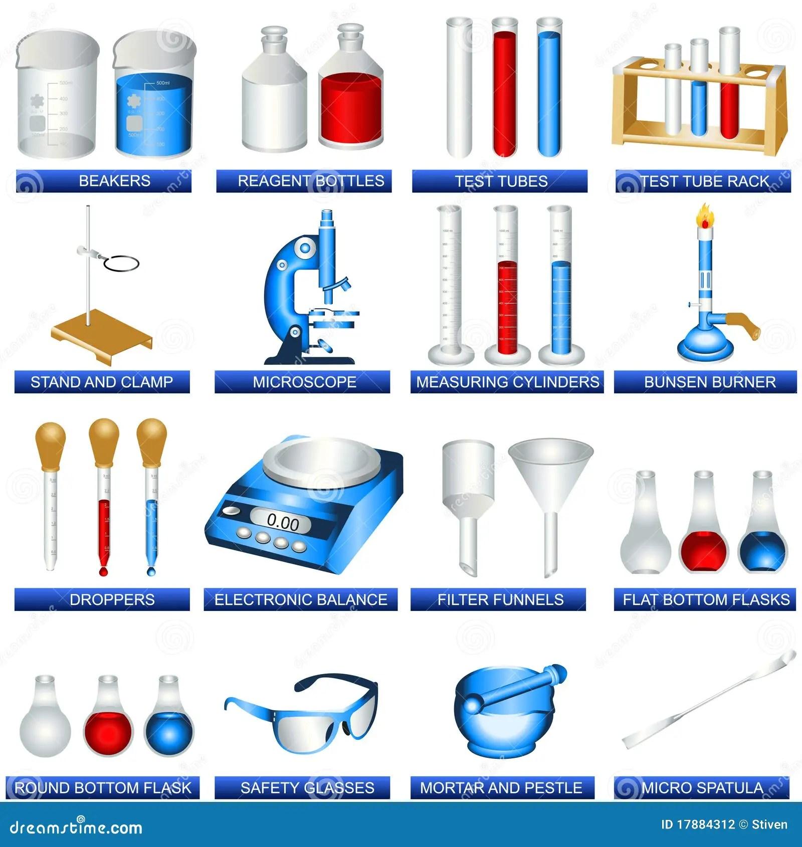 Herramientas Del Laboratorio Ilustracion Del Vector