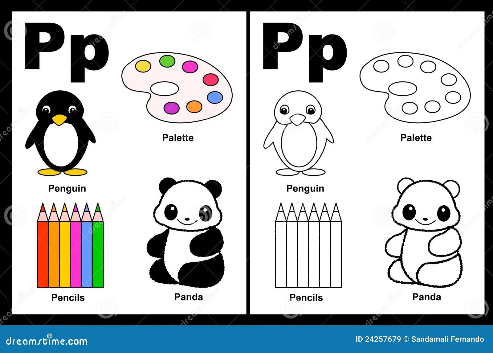 Het Aantekenvel Van De Brief P Vector Illustratie