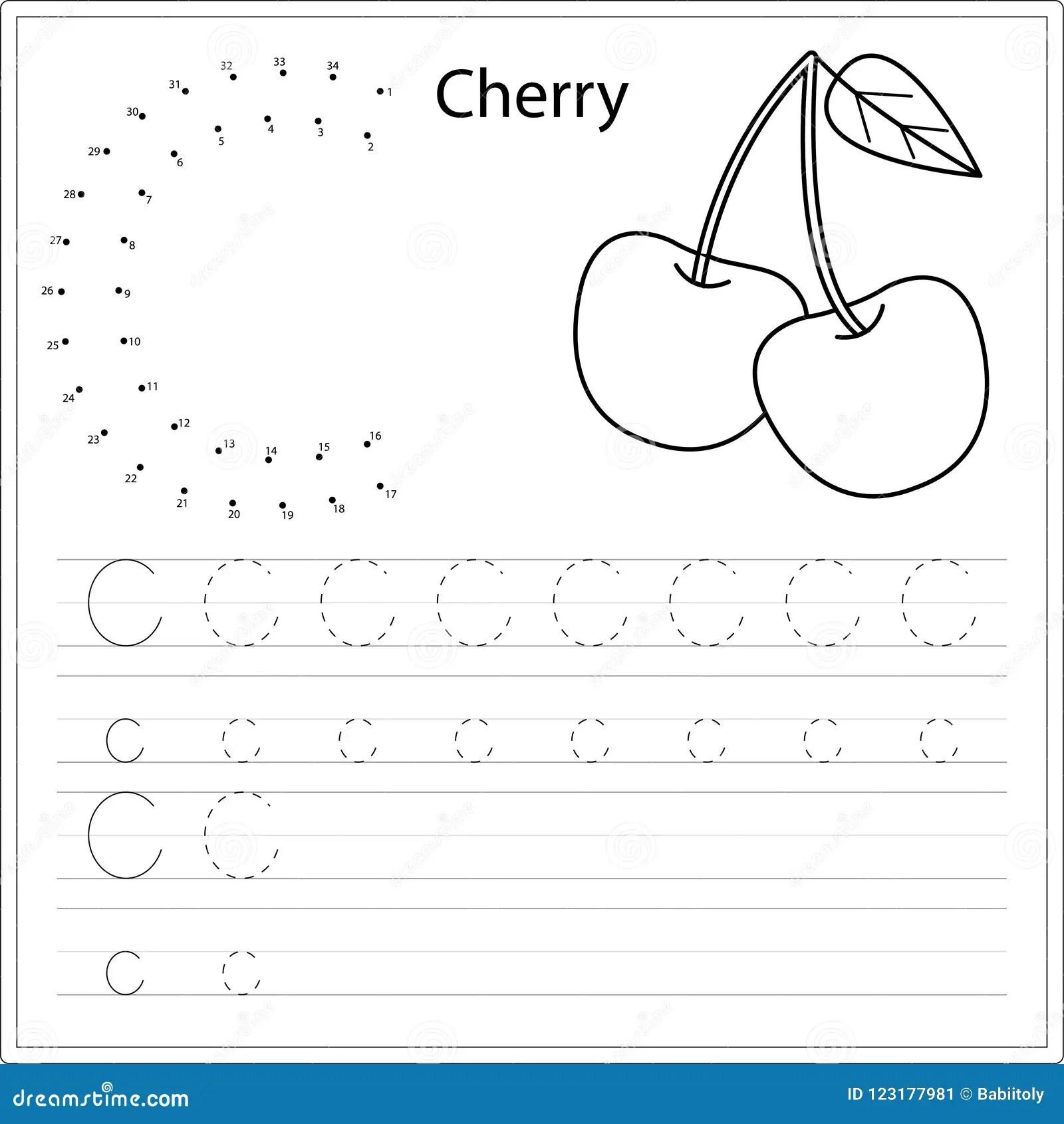 Het Leren Alfabet Aantekenvel Het Leren Van Een Brief Het