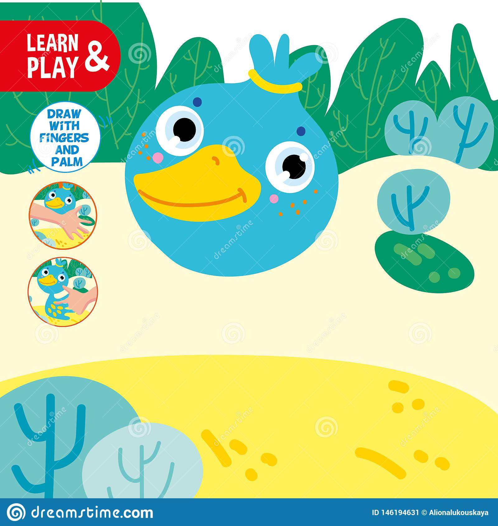 Het Spel Duck Sample Worksheet Learn Van De Vingertekening