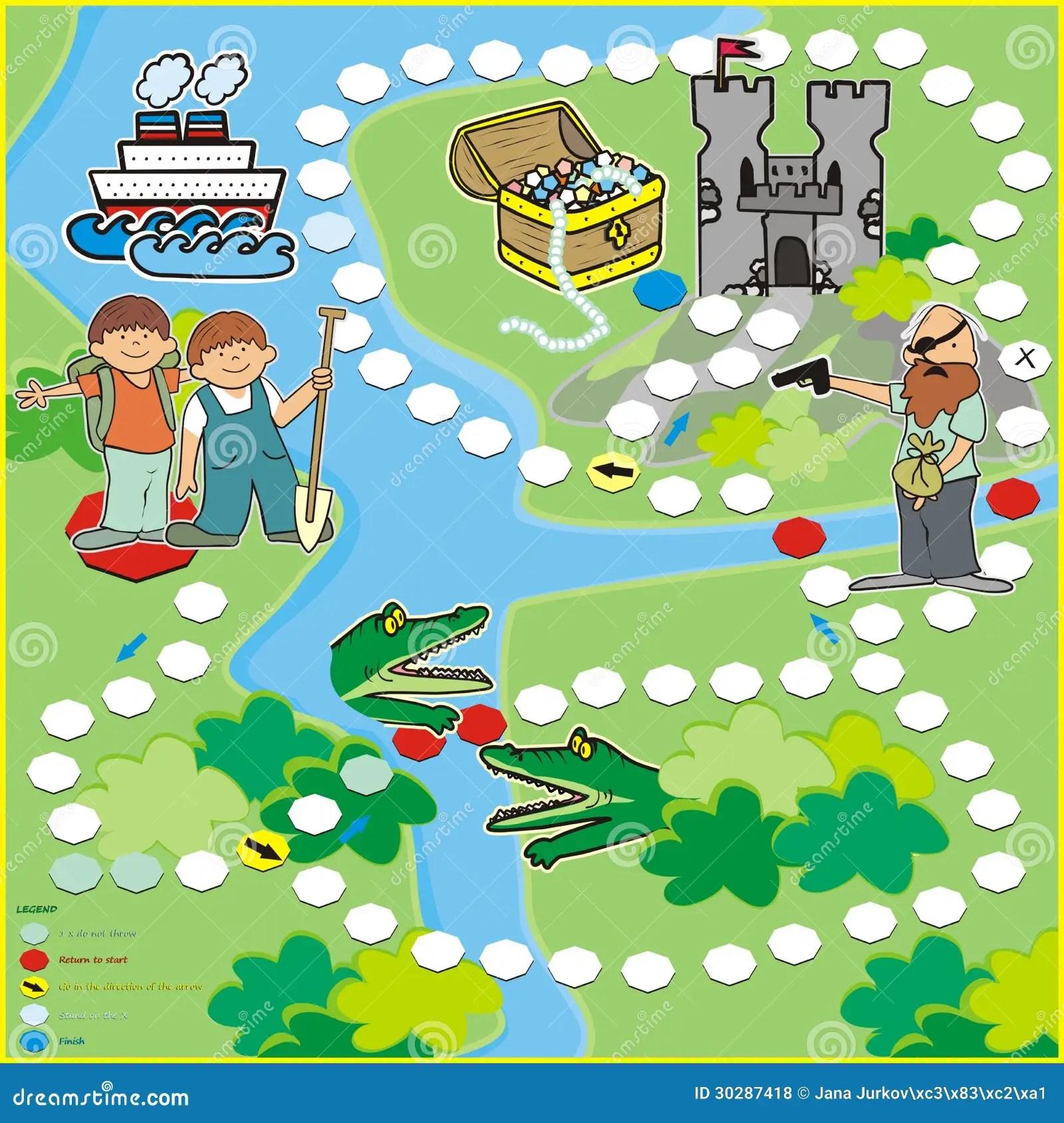 Spel Zoektocht Naar Schat Vector Illustratie Illustratie