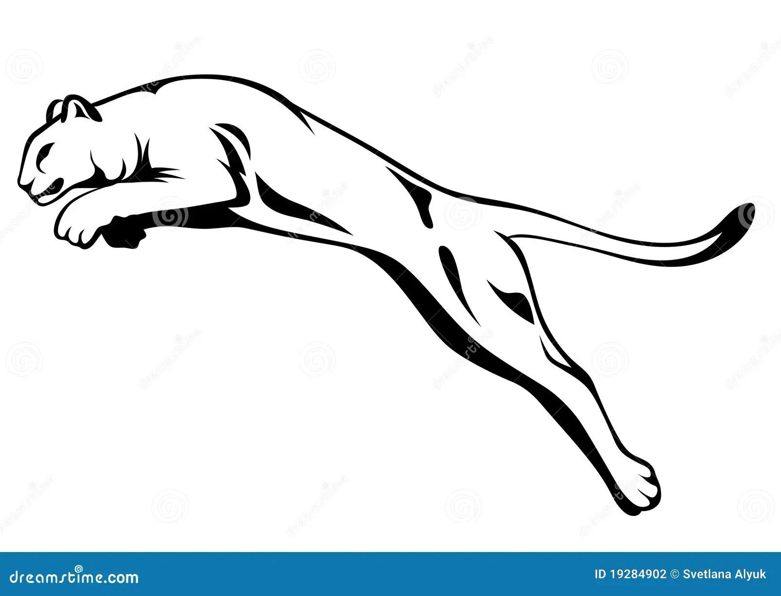 Het Springen Van De Leeuw Vector Illustratie Illustratie