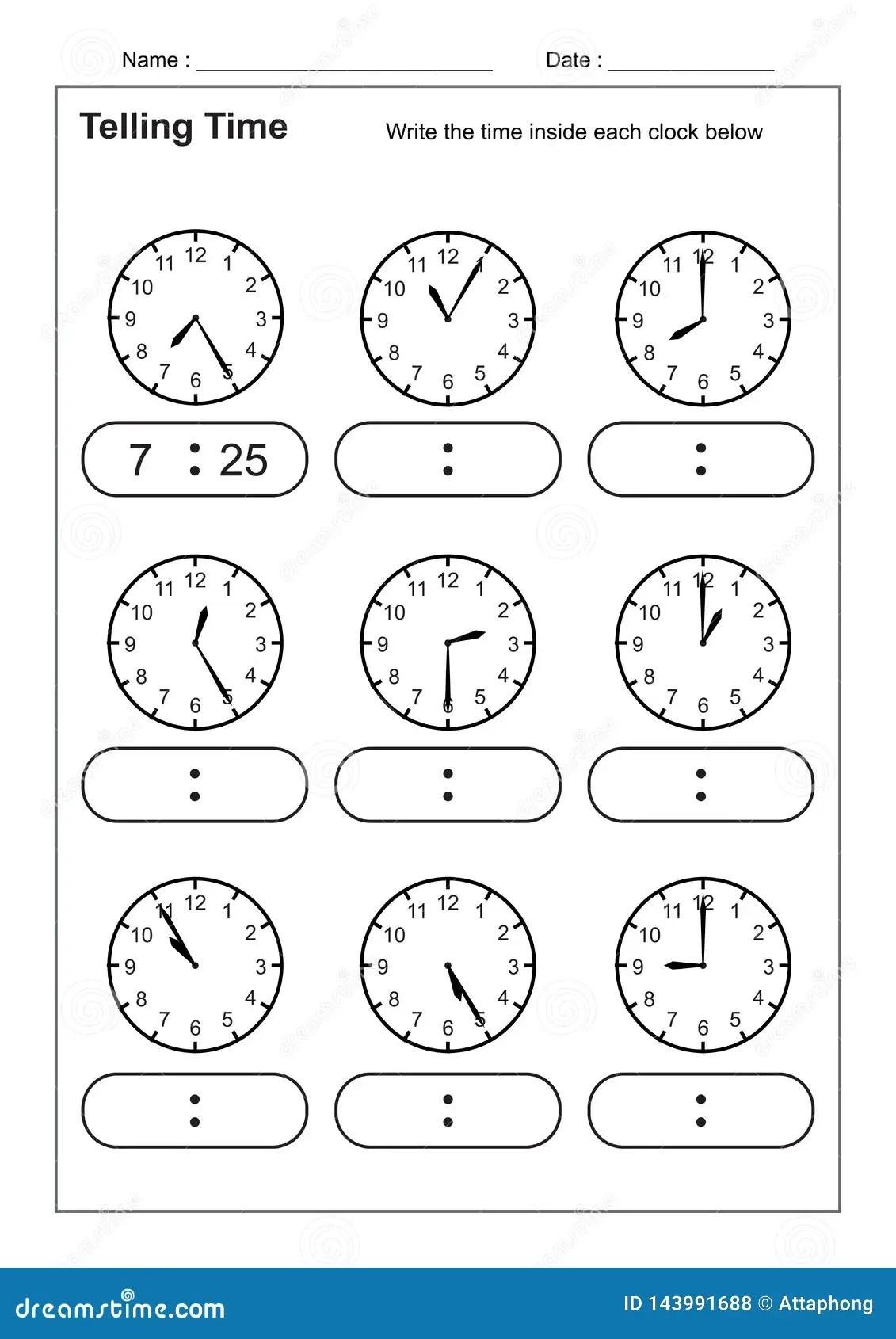 Het Vertellen Tijd De Tijdpraktijk Voor De