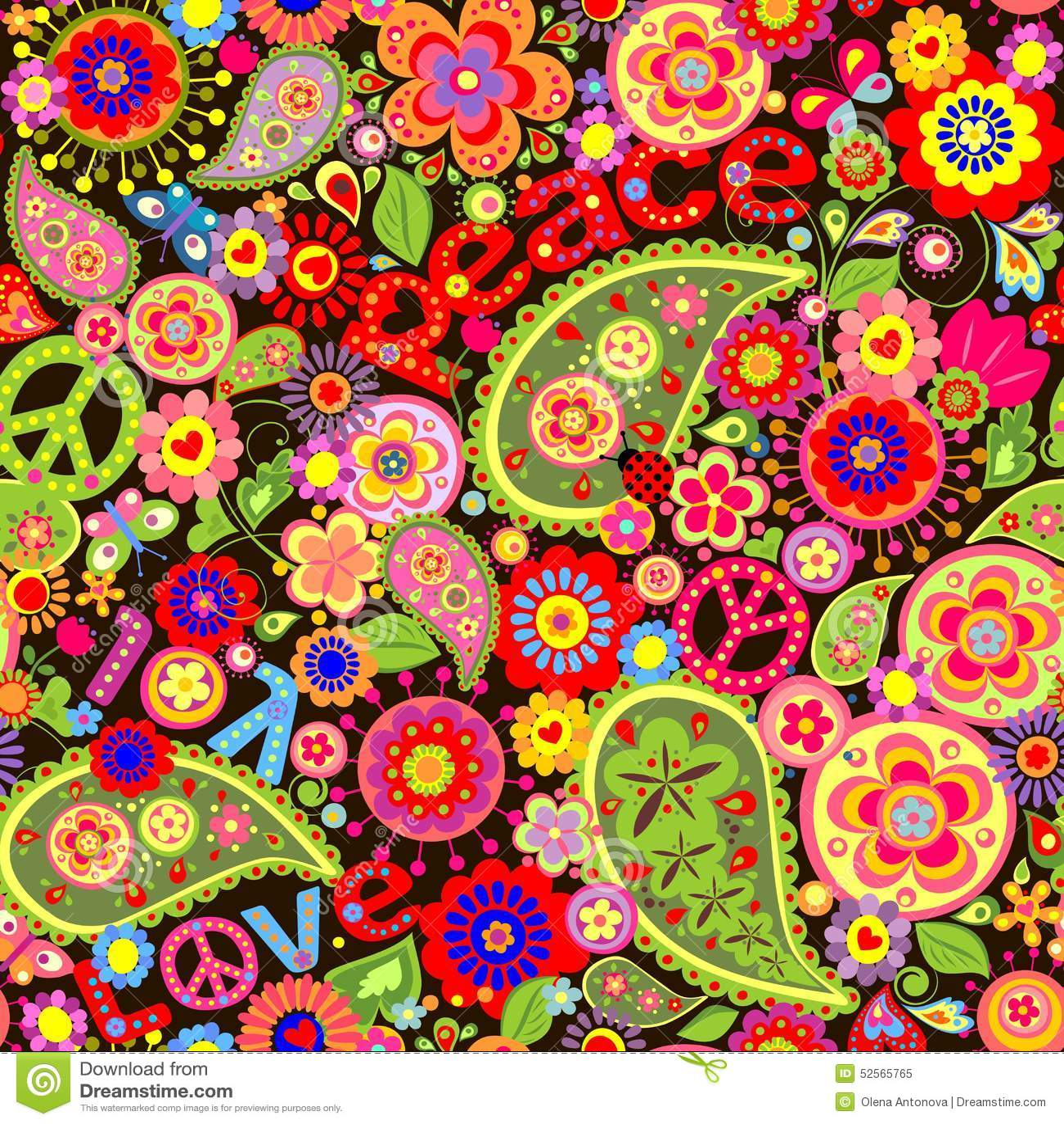 Groovy Flower Power Wallpaper