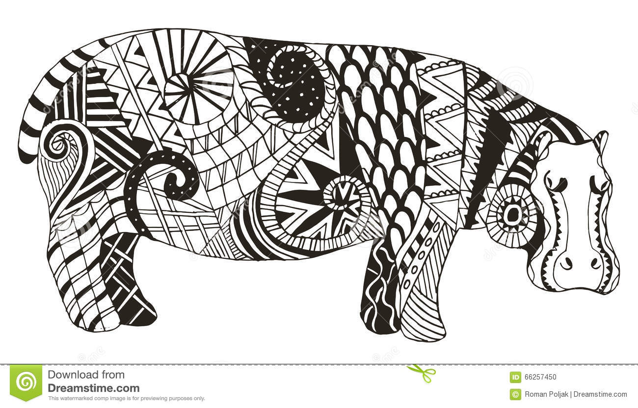Vector Illustration Of A Hippo Vector Illustration