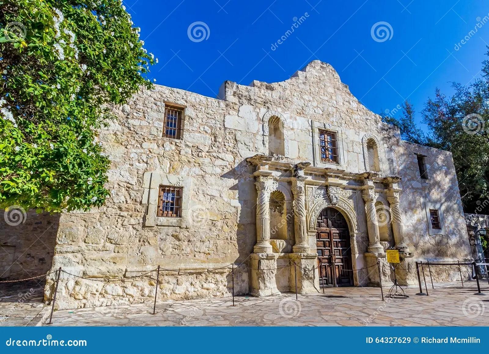 The Historic Alamo In Texas Stock Photo