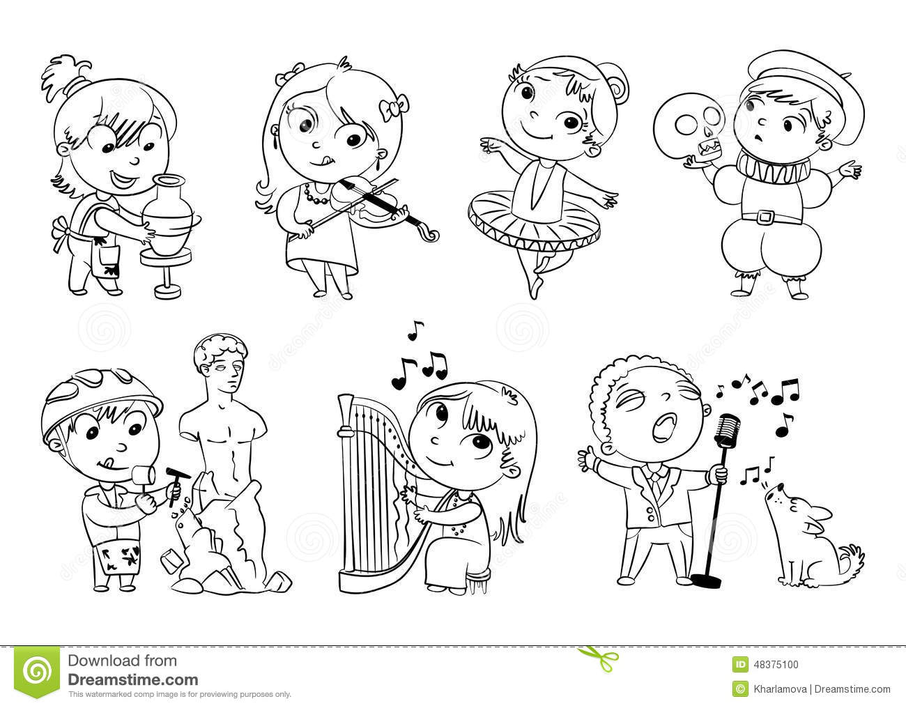 Hobbies And Interests Stock Vector