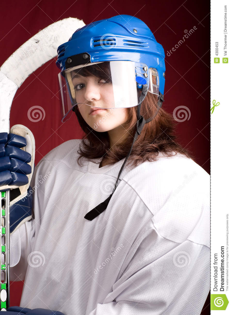 Hockey Girl 2 Stock Photos Image 4300453
