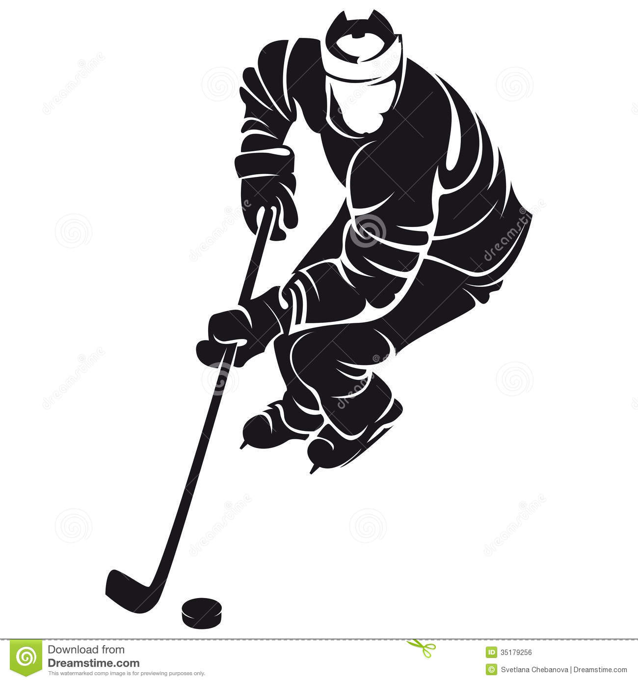 Hockey Player Silhouette Stock Vector Illustration Of