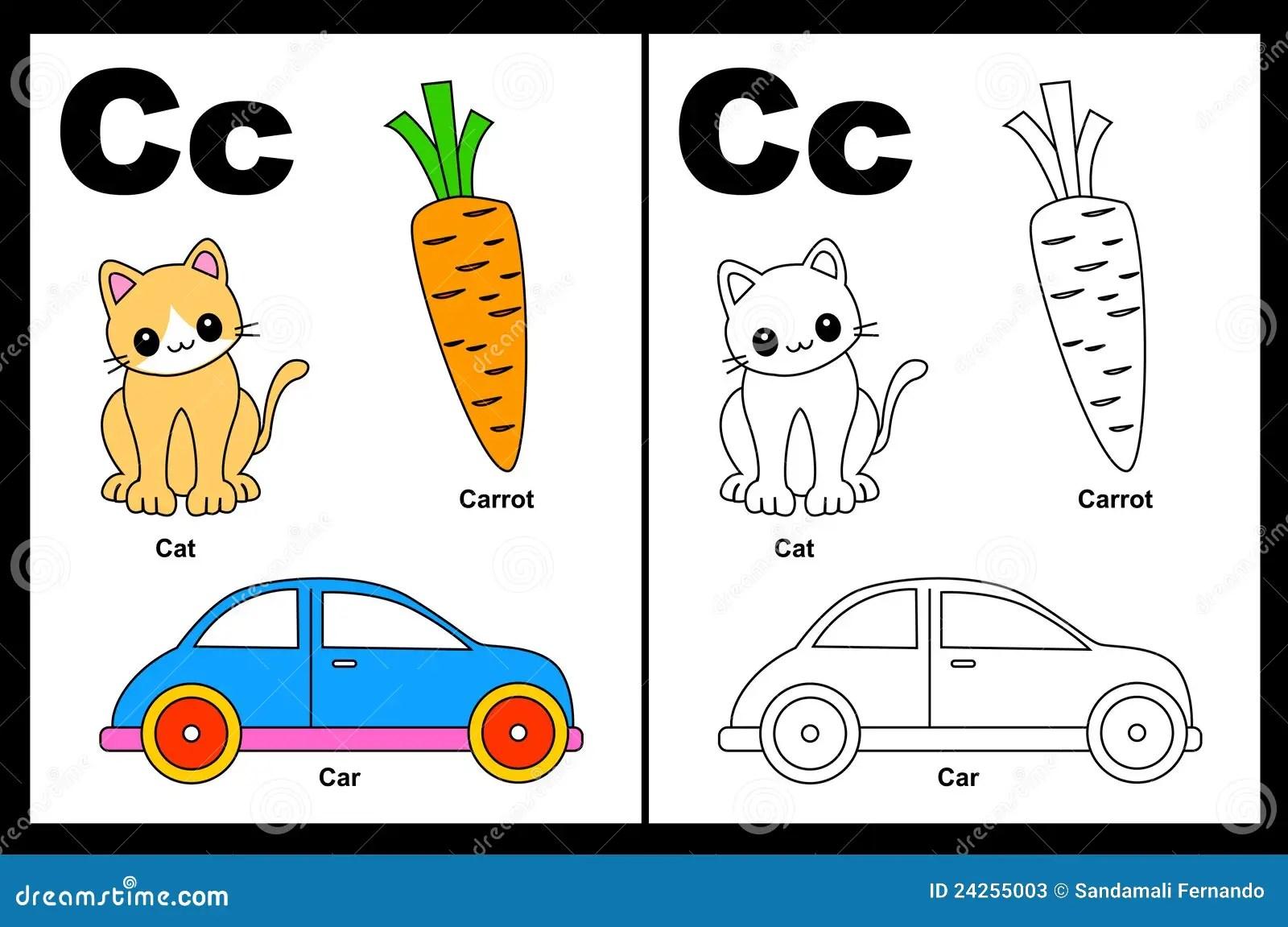 Hoja De Trabajo De La Letra C Ilustracion Del Vector