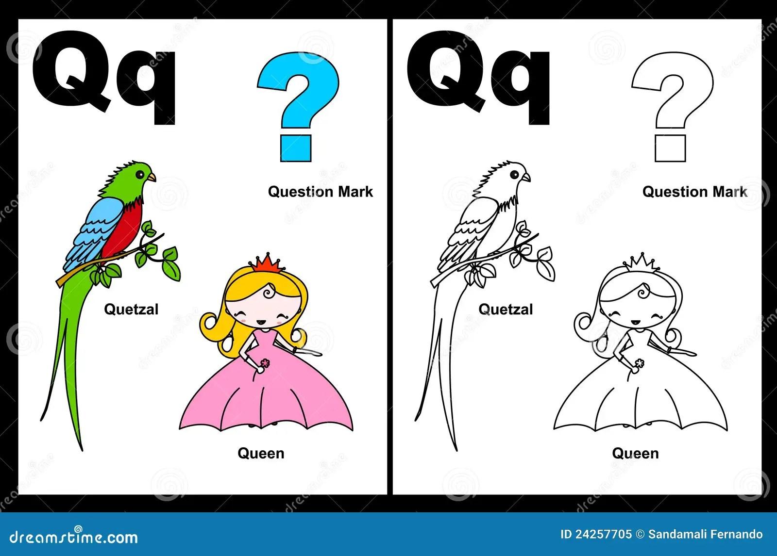 Hoja De Trabajo De La Letra Q Foto De Archivo Libre De