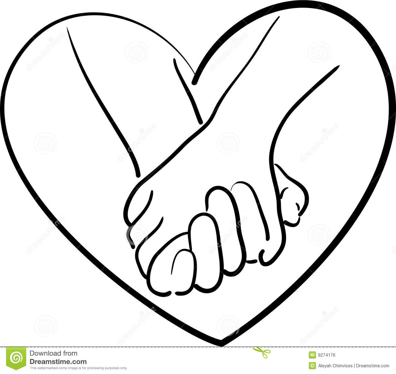 Holding Hands Stock Vector Illustration Of Love Holding
