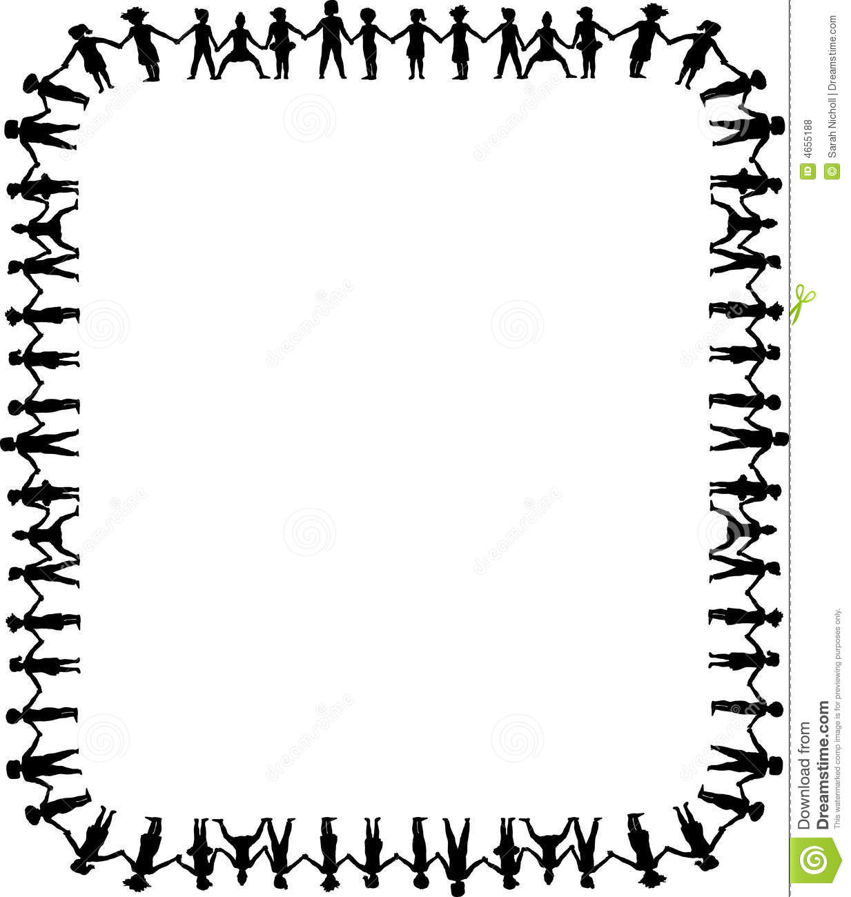 Holding Hands Border 1 Stock Illustration Illustration Of