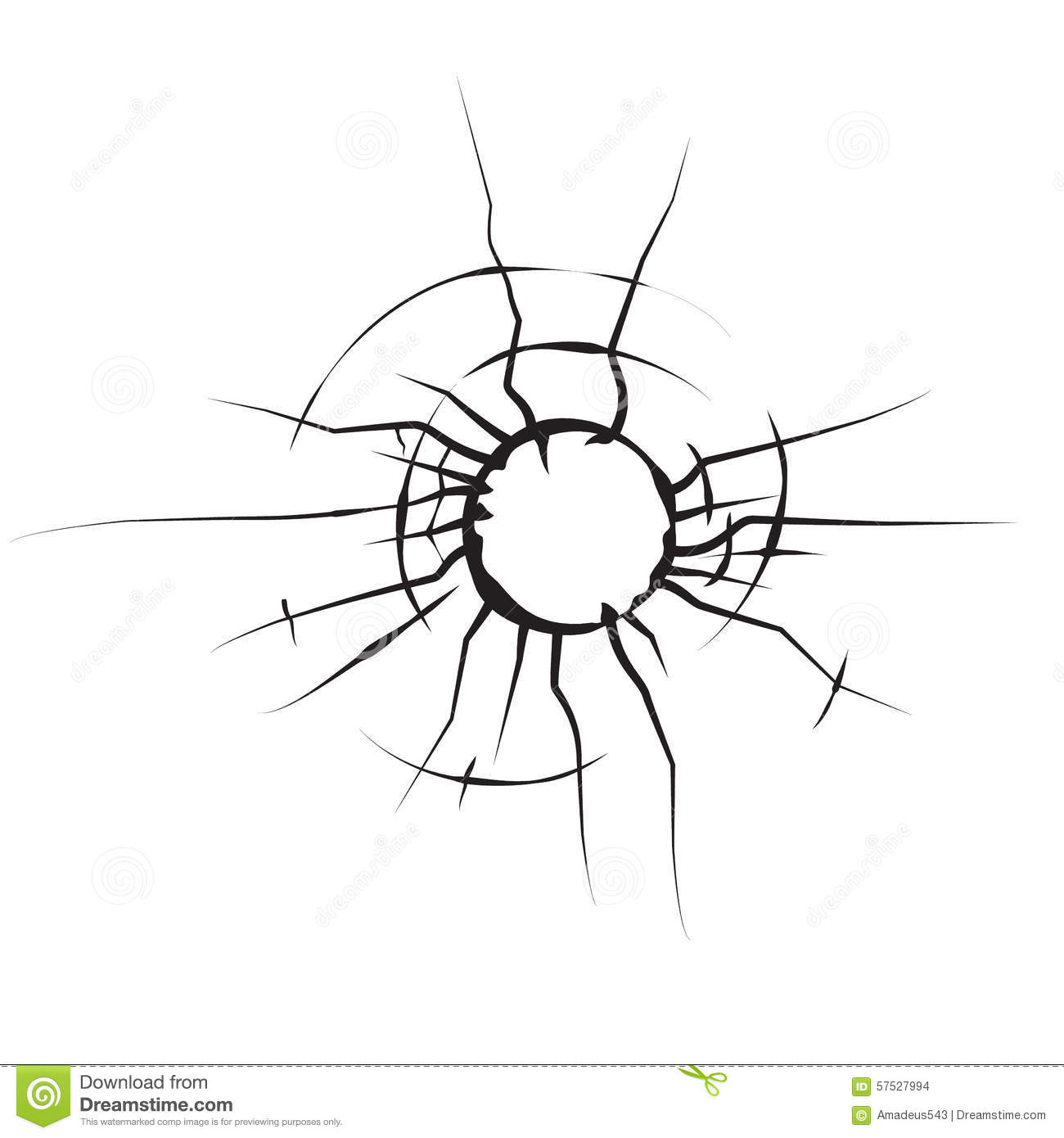Background Of Cracked Glass Black And White Royalty Free