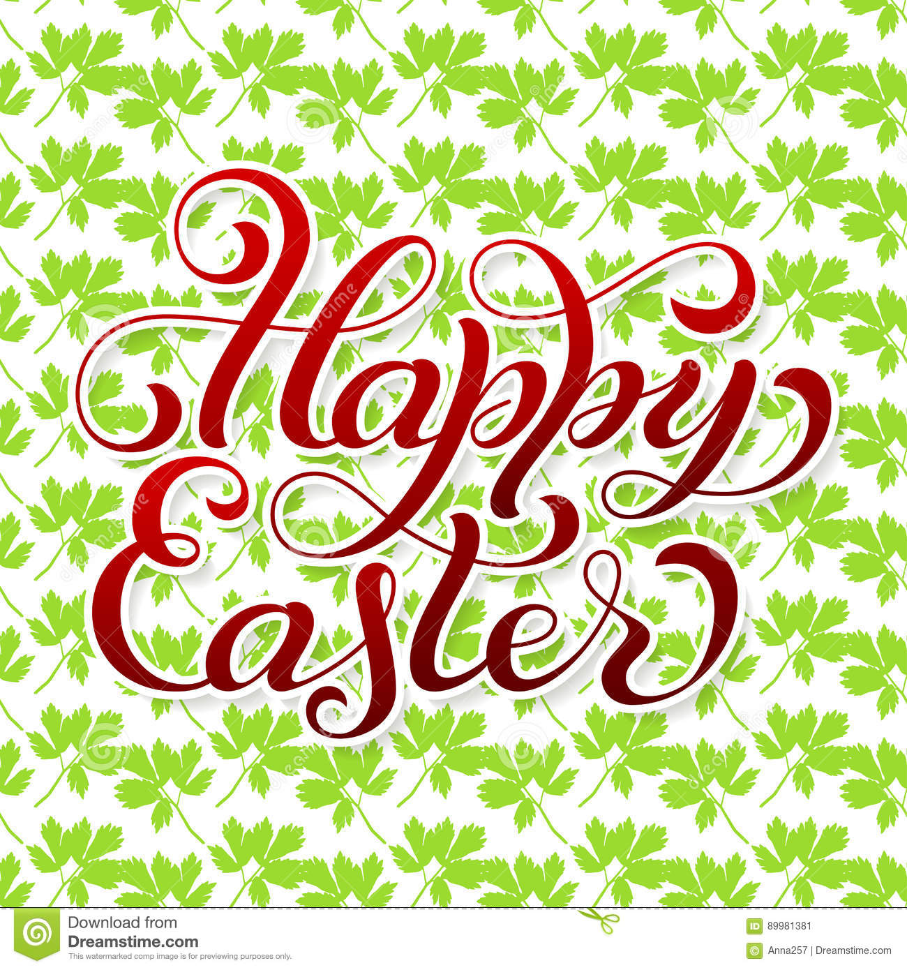 Holiday T Card With Hand Lettering Happy Easter Stock