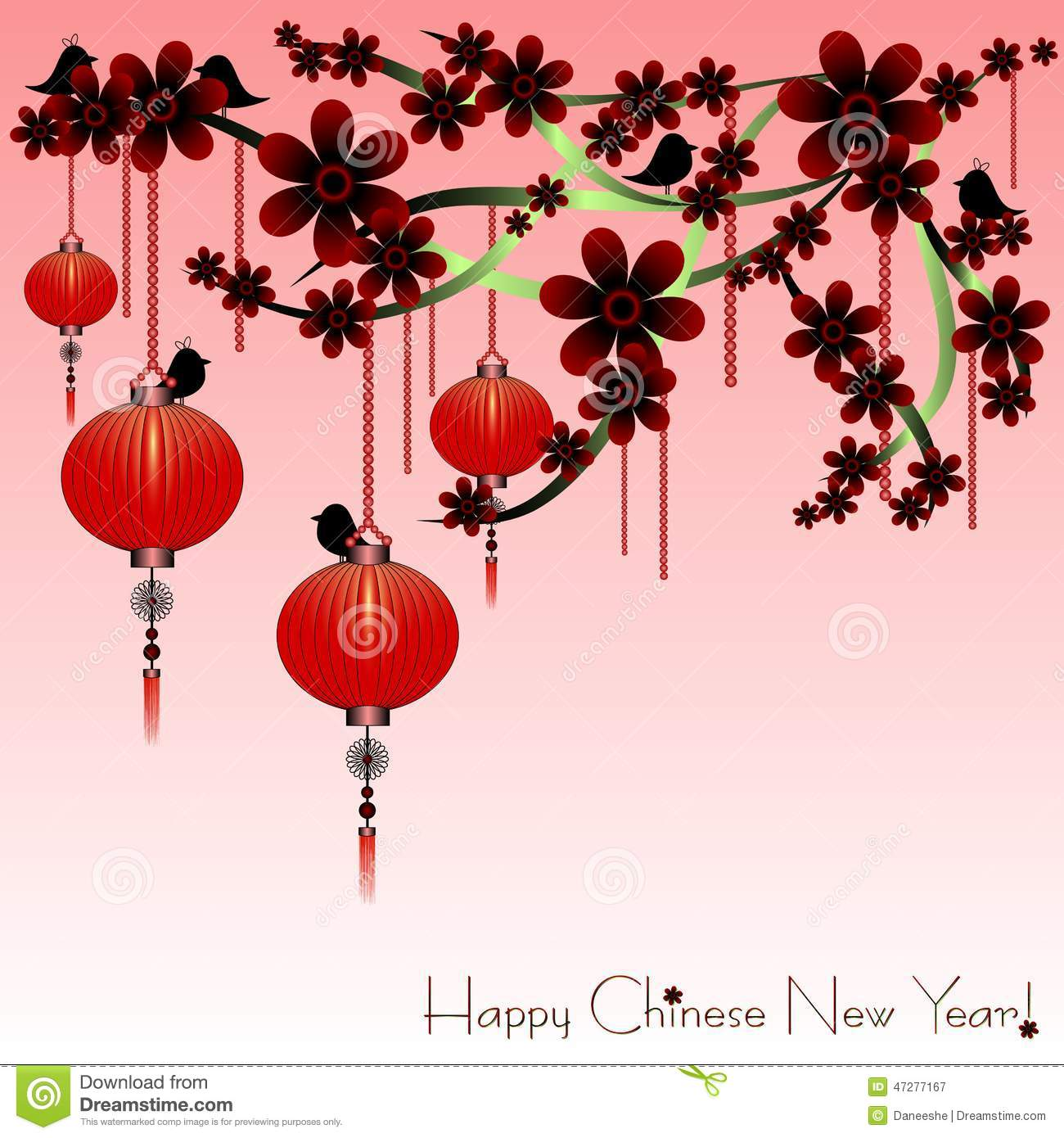 holiday postcard to the chinese new year 2015 stock vector - image