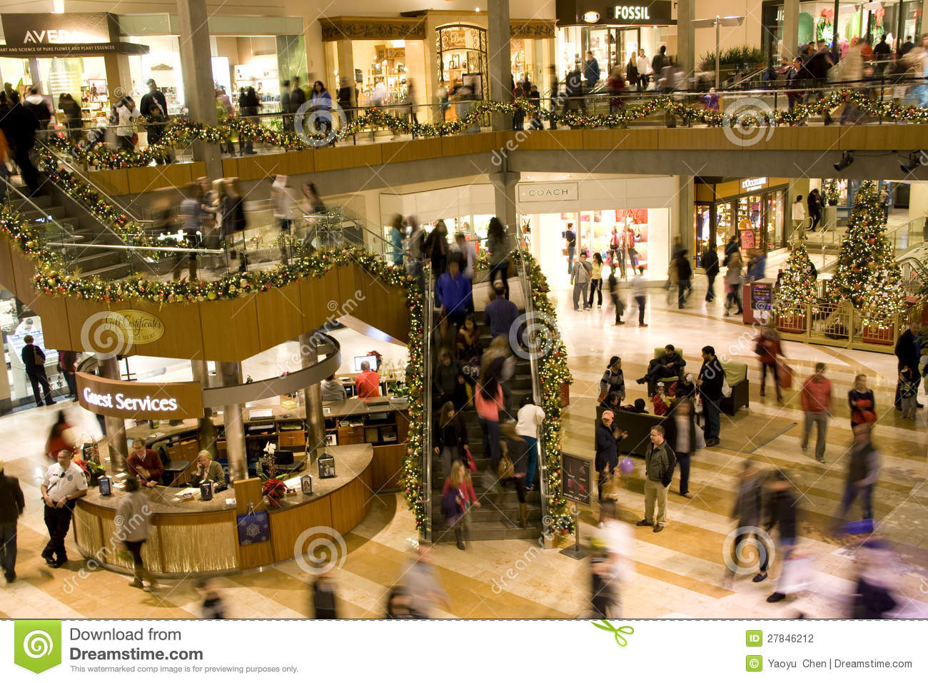 Holiday Shopping Mall Editorial Photography Image 27846212