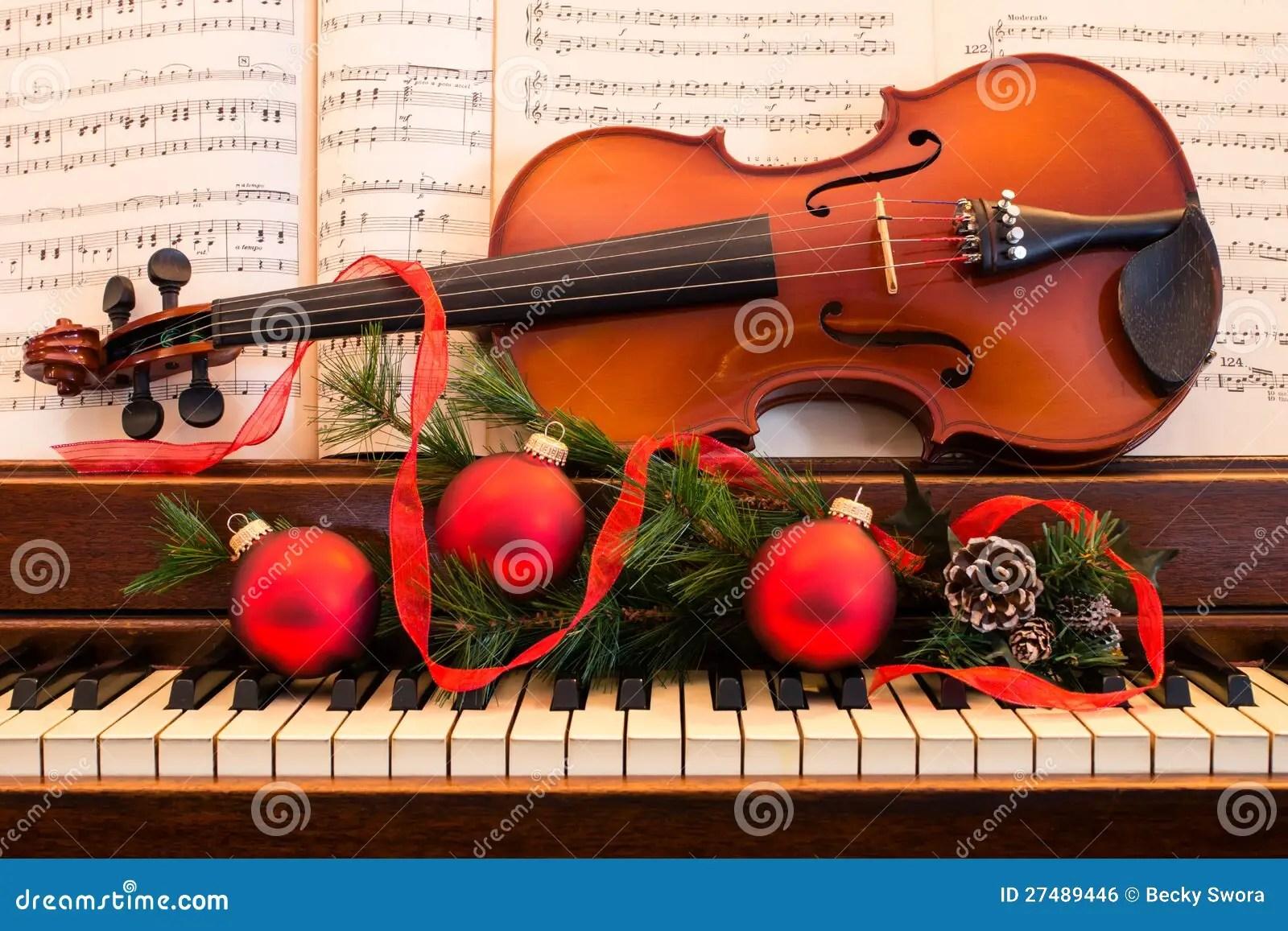 Holiday Violin And Piano Royalty Free Stock Image Image