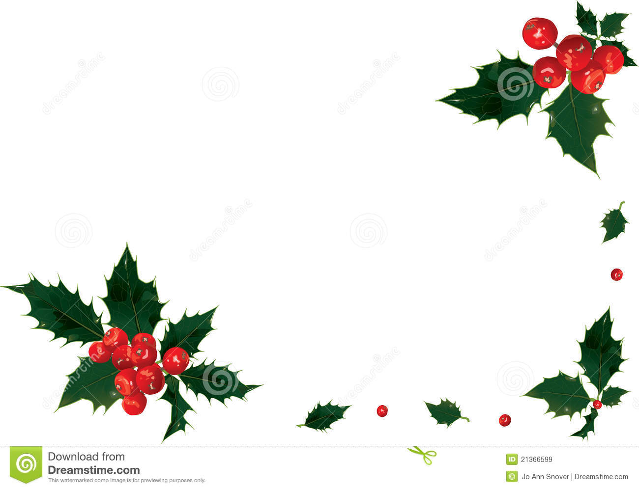 Holly Border Royalty Free Stock Images Image 21366599