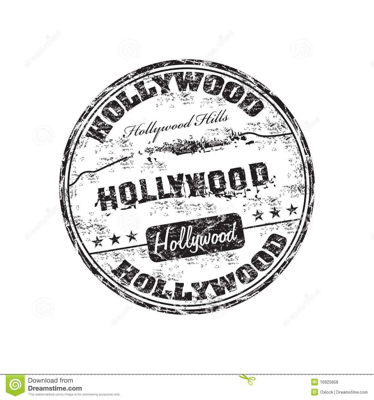 Hollywood Stamp Stock Vector Illustration Of Actress