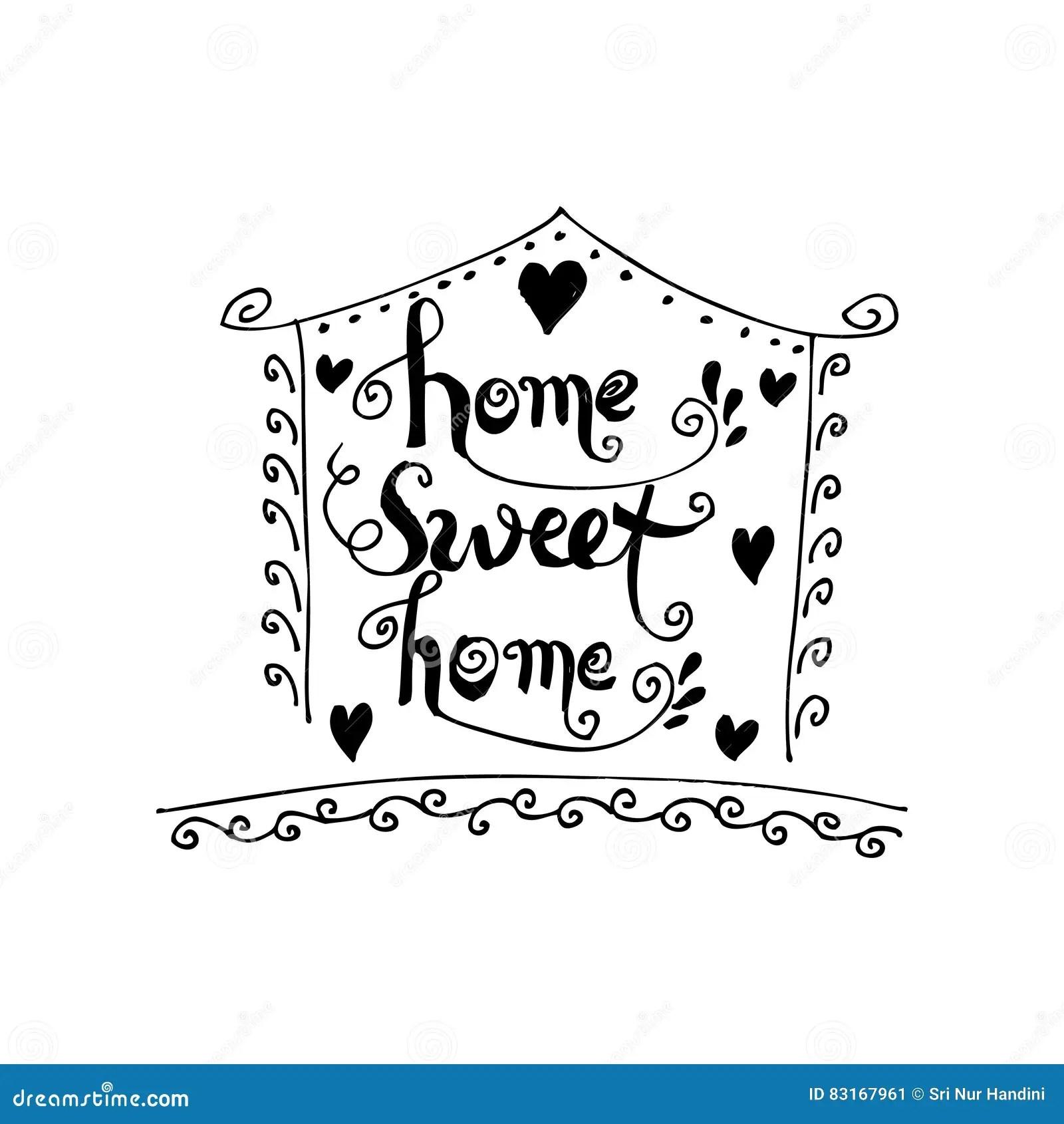 Home Sweet Home Postcard Stock Illustration Illustration