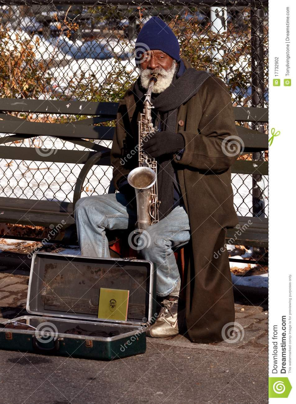 Homeless Musician Editorial Photography Image 17732902