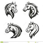 Horse Animal Tribal Tattoo Or Racing Sport Mascot Stock Vector Illustration Of Mane Emblem 123706171