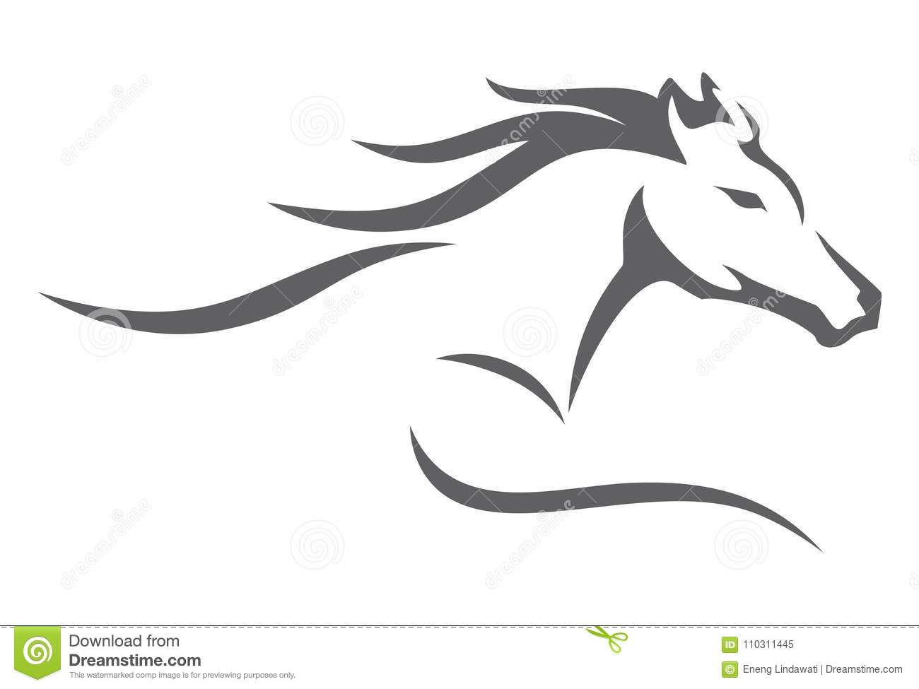 Horse Brush Abstract Luxurious Stock Vector