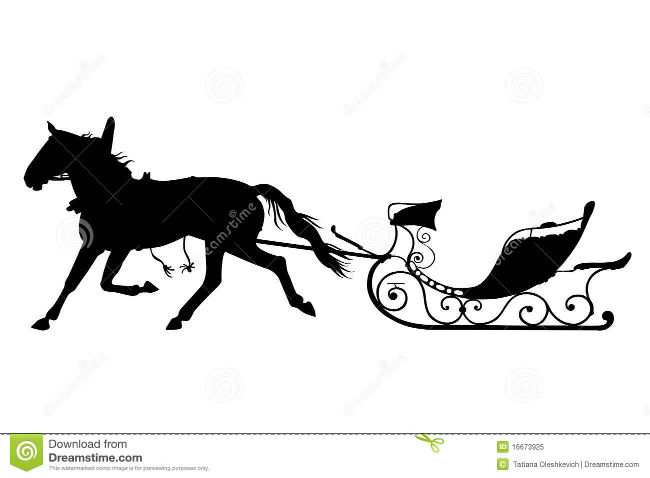 Horse With Drawn Sled Stock Image Image Of Pulling Horse