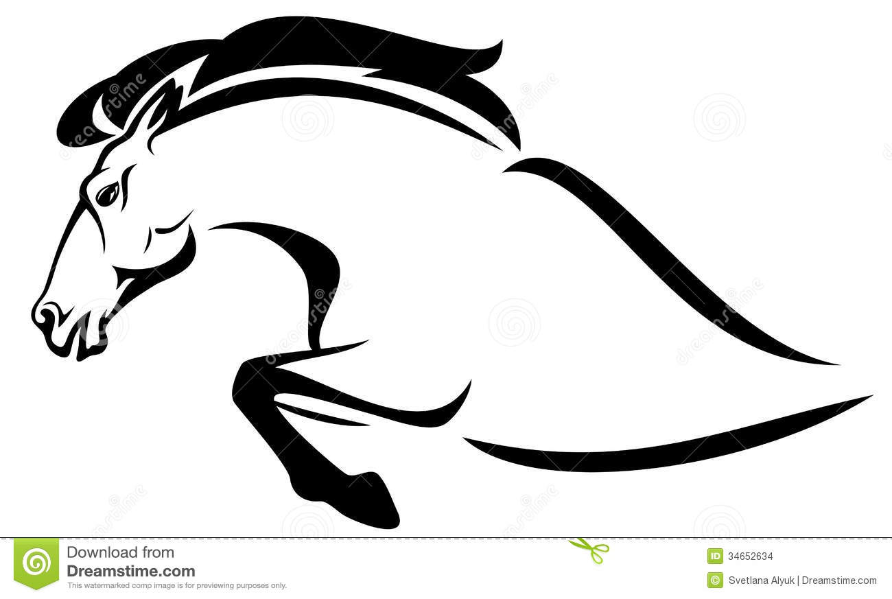 Horse Jump Vector Stock Images