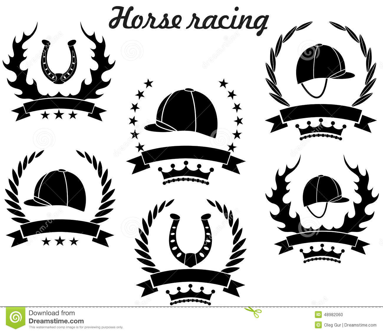 Horse Racing Stock Vector Illustration Of Vector Healthy