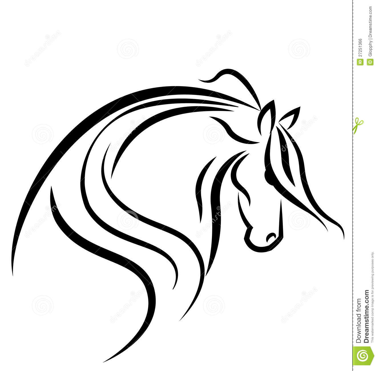 Horse Silhouette Logo Royalty Free Stock Image