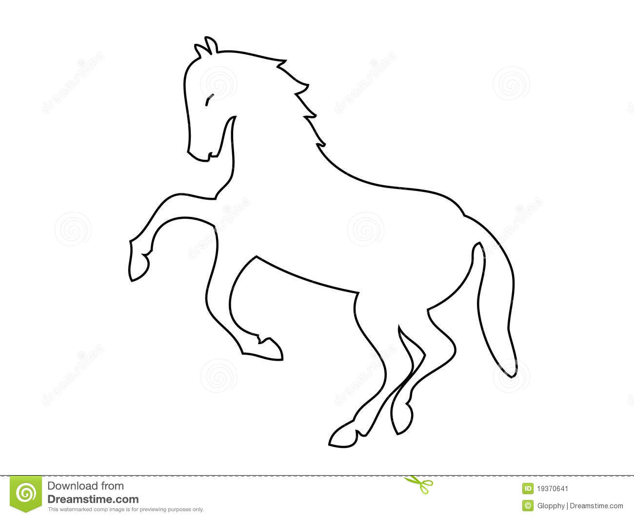 Horse Silhouette Vector Stock Image