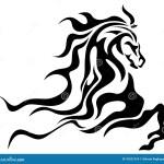 Horse Tattoo Stock Vector Illustration Of Head Beam 76521318