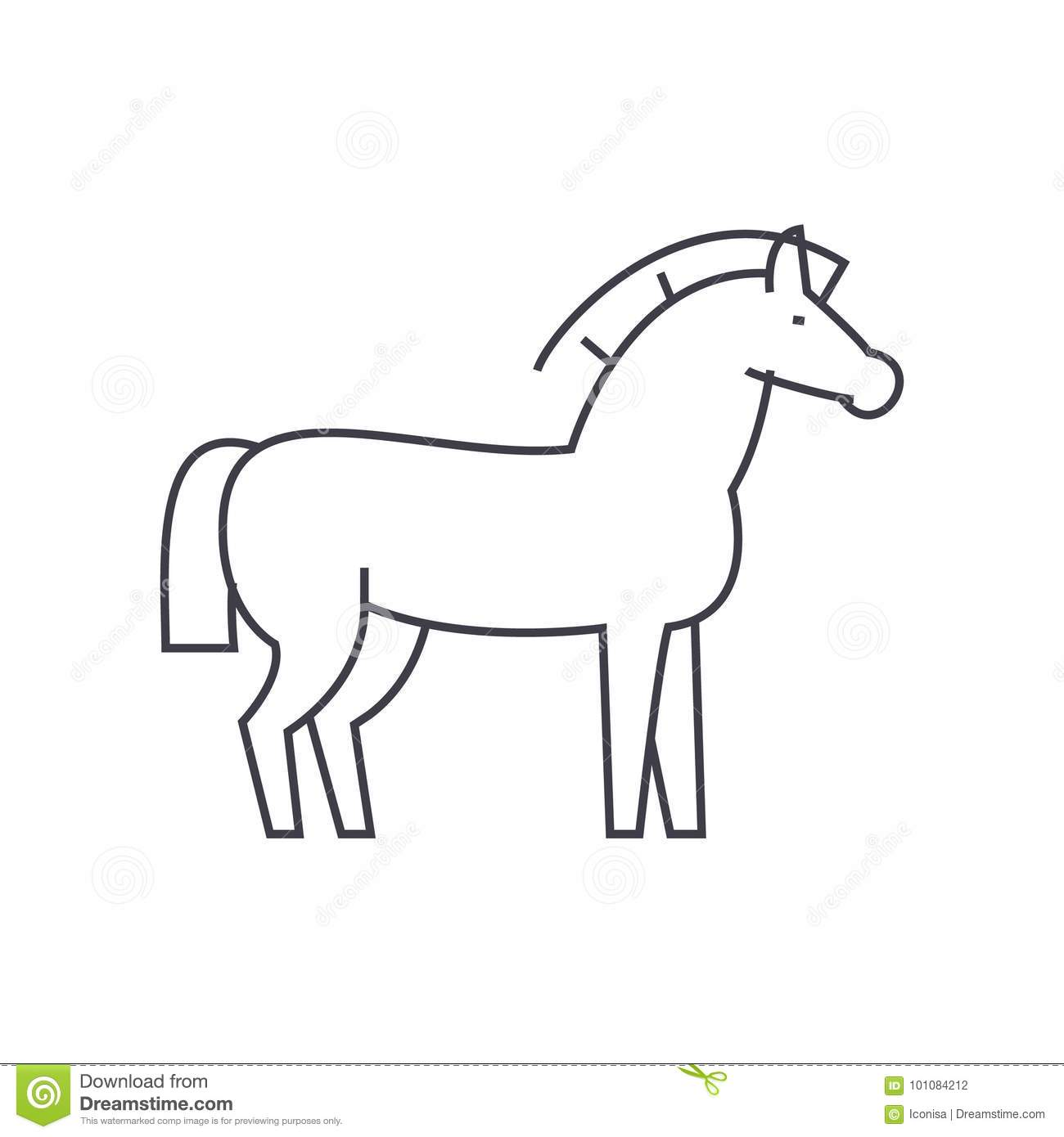 White Horse Galloping On A Black Background Royalty Free