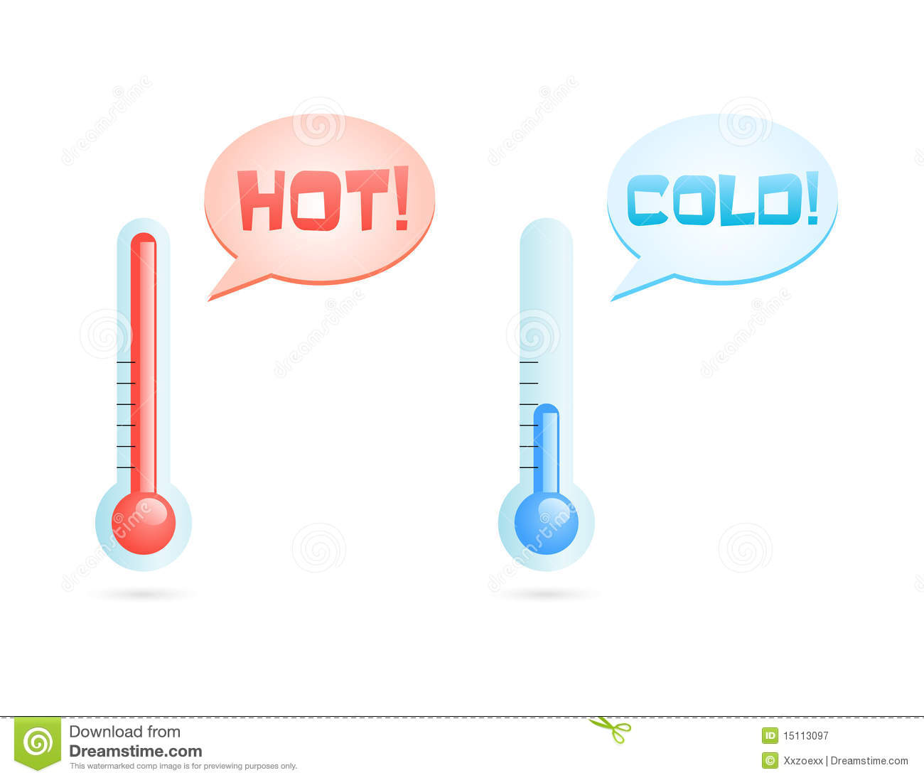 Hot And Cold Temperature Icons Royalty Free Stock